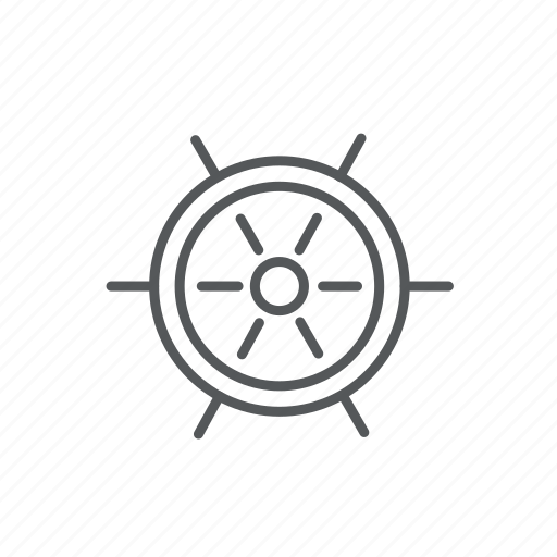 boat, direction, helm, rudder, sail, vessel icon