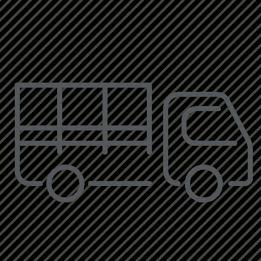 car, delivery, dustman, farming, truck, van, vehicle icon