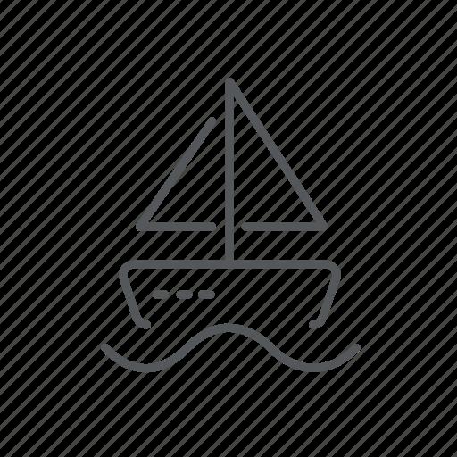 boat, sail, sailboat, sea, vessel, yacht icon
