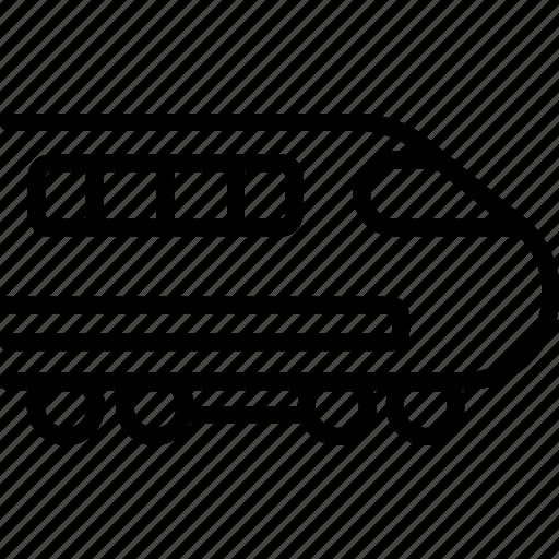 bullet train, business, railway, train, tram, transport, vehicle icon