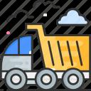 garbage, vehicle, truck, dump truck icon