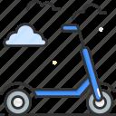 scooter, sport, push, kick