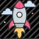 spacecraft, rocket, startup, spaceship icon