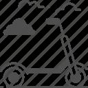 scooter, kick, sport, push