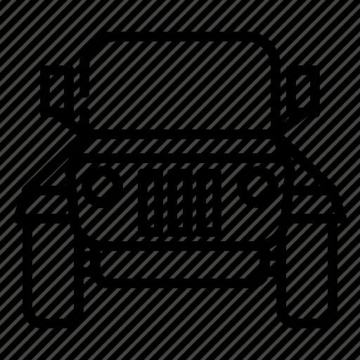 automobile, cab, car, jeep, tour, transportation, vehicle icon