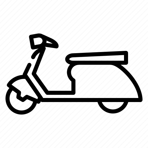 Bike, delivery, motorbike, motorcycle, scooter, travel, vehicle icon - Download on Iconfinder
