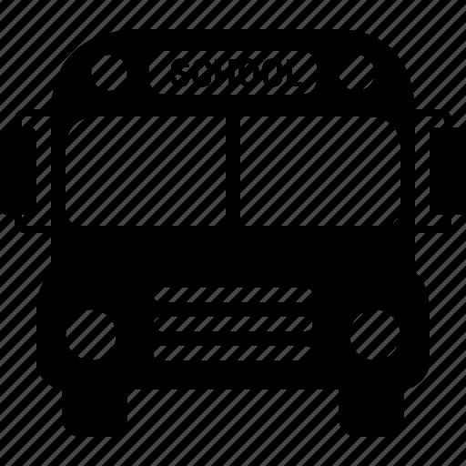 bus, school, schoolbus, text, transport, transportation, vehicle icon