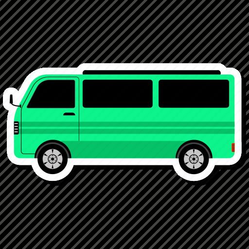 delivery van, school van, transportation, van, vehicle icon