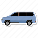 auto, mobile, van, vehicl icon