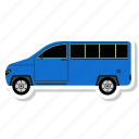 bus, delivery van, school, transportation, van, vehicle icon