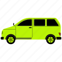 drive, transportation, van, vehicle icon