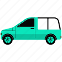 cargo, cargo van, delivery, shipping, van, white van icon