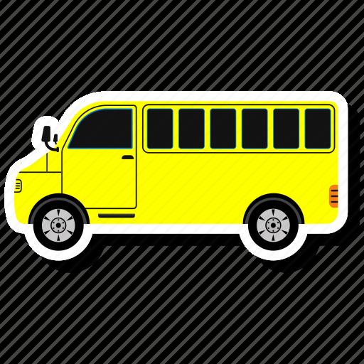 autobus, bus, bus school, coach, school, transportation, van icon