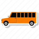 autobus, bus, bus school, coach, school, transportation, van icon