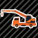 cargo, construction, crane, lorry, transportation, truck, vehicle