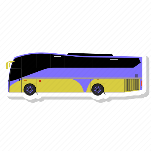 bus, luxury bus, transport, transportation, travel, vehicle icon