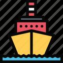 motor, ship
