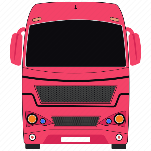 bus, luxury bus, school bus, transport icon