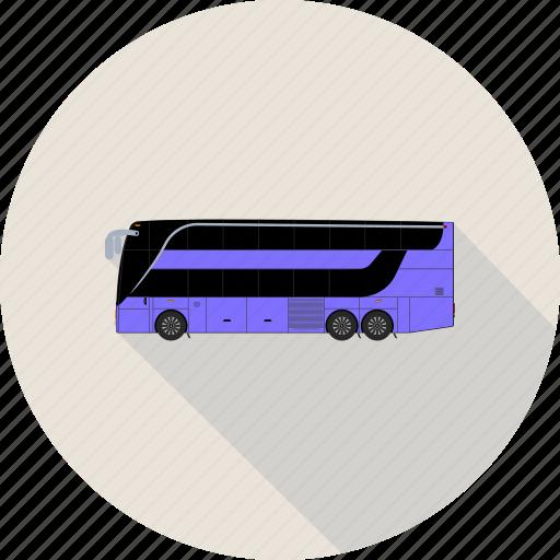 autobus, bus, coach, transport icon