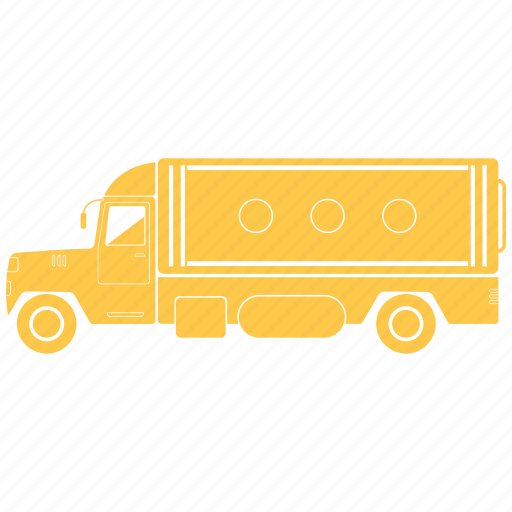 delivery, large, transportation, truck icon