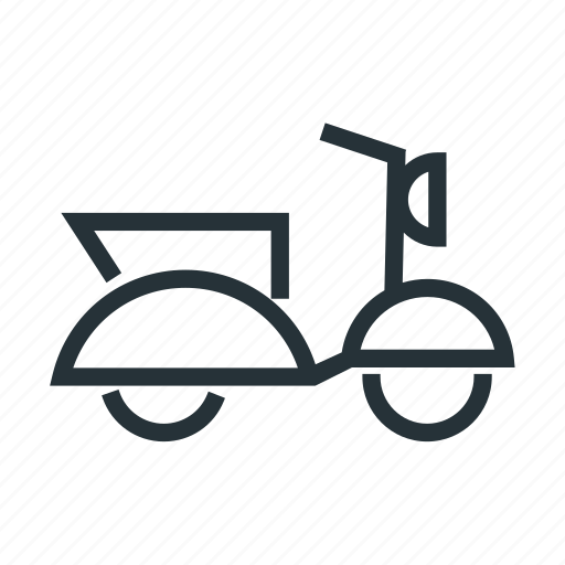 bike, motor, scooter, transport icon