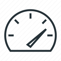 high, speed, speedometer icon