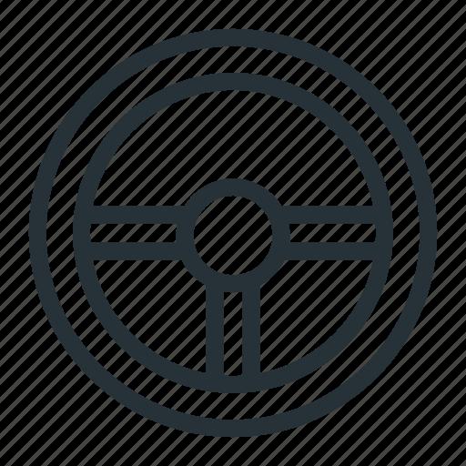 car, control, steering wheel icon