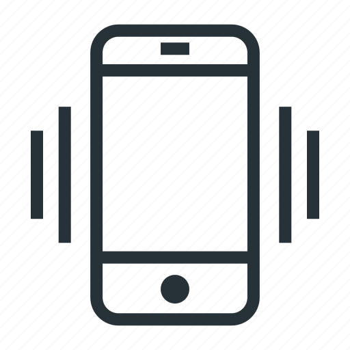 mobile, phone, smartphone, telephone, vibration icon