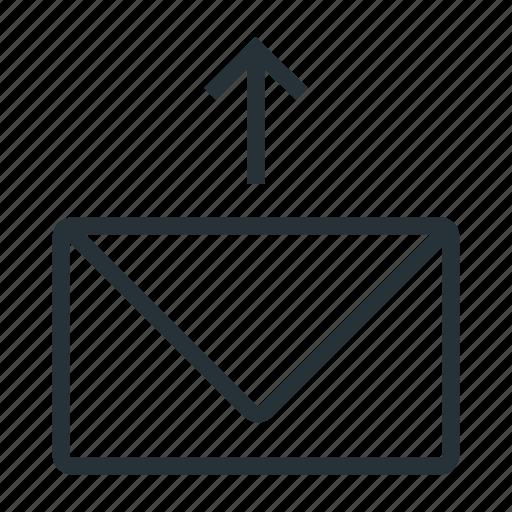 arrow up, inbox, mail, send, sent icon