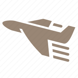 airplane, flight, fly, plane, transport, travel icon