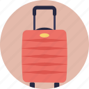 baggage, luggage, luggage bag, suitcase, travel bag icon