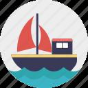 cruise, sailboat, ship, travel, yacht icon