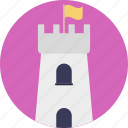 castle, castle building, castle tower, fortress, medieval icon