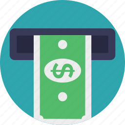 atm card, atm machine, cash withdrawal, money withdrawal, withdrawing money icon