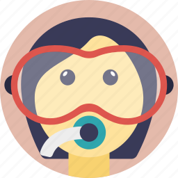 diving, scuba diving, scuba mask, snorkeling, swimming icon