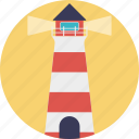beacon, lighthouse, navigational aid, sea lighthouse, sea tower icon