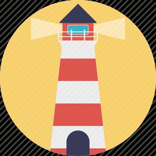 beacon, lighthouse, navigational aid, sea lighthouse, sea tower icon