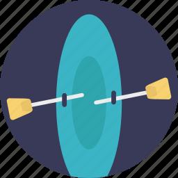 boating, canoeing, kayaking, rafting, vessel icon