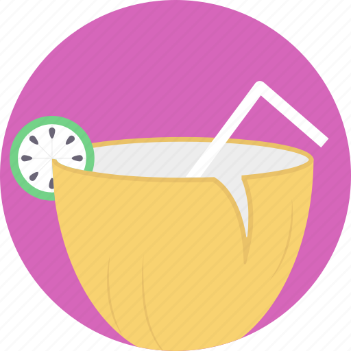 beverage, coconut water, nutrition, summer drink, tropical drink icon