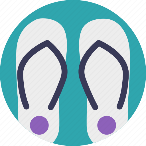 beach sandals, flat sandals, flip flops, footwear, shoes icon