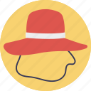 cowboy hat, floppy hat, hat, headwear, summer hat icon