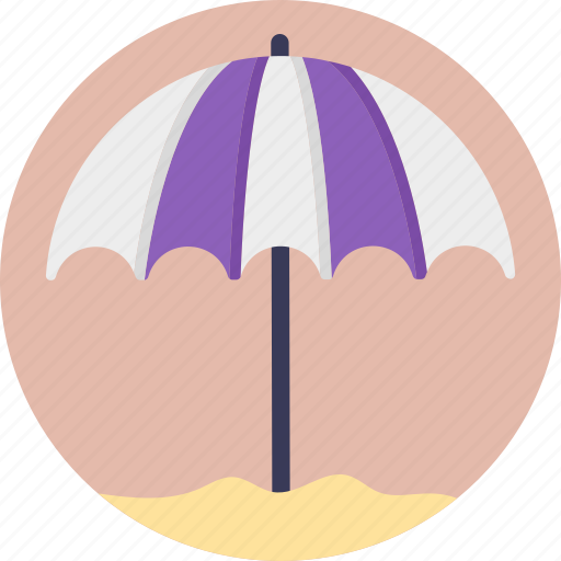 beach umbrella, canopy, summertime, sun tanning, sunbathe icon