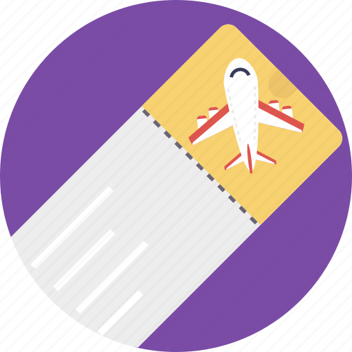 air ticket, boarding pass, plane ticket, travel ticket, travelling pass icon