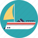 cruise, merchant ship, ship, travel, yacht icon
