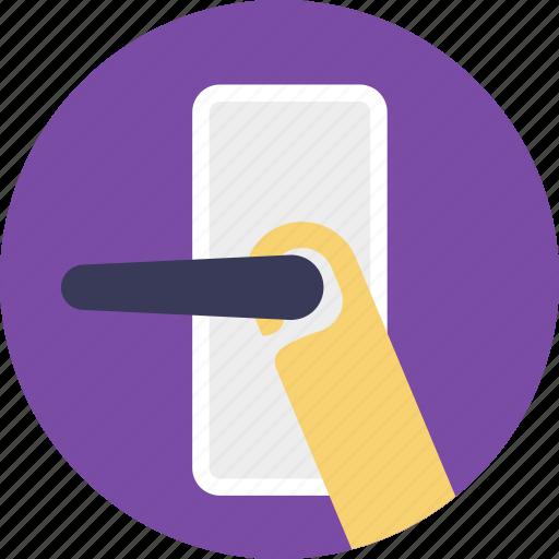 do not disturb, door handle, door hanger, door label, doorknob icon