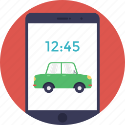 cab booking, car booking, carpooling app, online cab, ride-sharing app icon