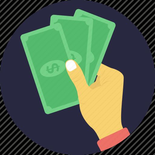banknotes, cash, finance, money, wealth icon