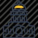 house, landmark, travel, white icon
