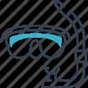 mask, sea, swim, travel icon