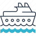 sea, ship, transport, travel icon